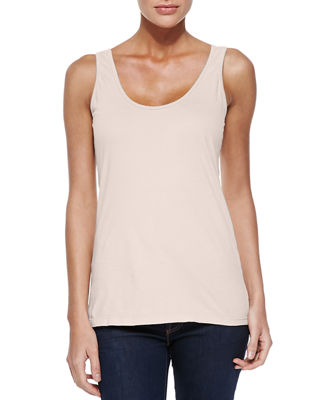 Johnny Was Scoop-Neck Cotton Tank & Femme Linen