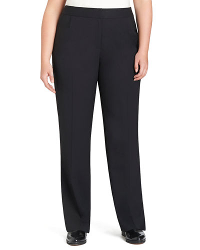 Lafayette 148 New York Menswear Straight-Leg Stretch-Wool Pants,