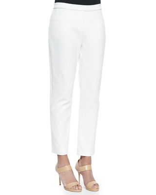 Ponte Slim Ankle Pants