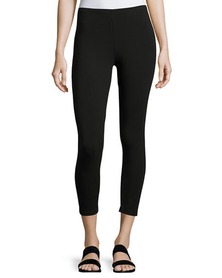 Joan Vass Plus Size Jersey Capri Leggings