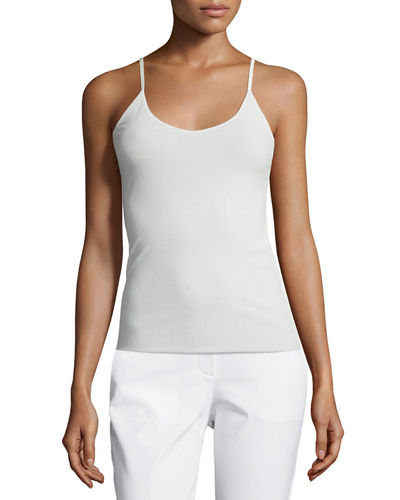 Lafayette 148 New York Open-Wave-Stitch Sweater, V-Neck Jersey
