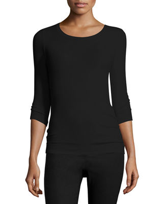 ATM Anthony Thomas Melillo Jackie Knit Ballet Top
