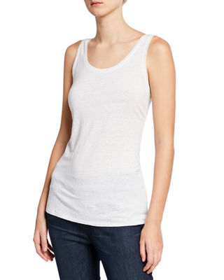 Eileen Fisher Wide Striped Box Top, Slub Organic