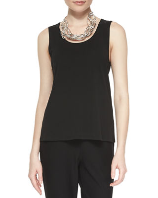 Image 1 of 2: Stretch Silk Jersey Tank