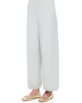 Image 1 of 2: Wide-Leg Knit Pants, Plus Size