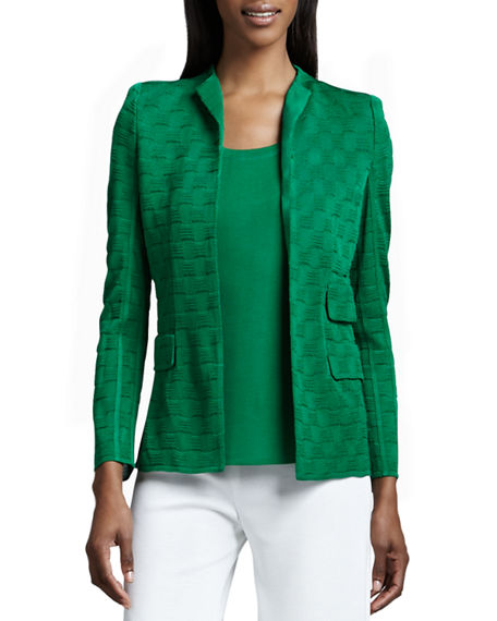 Misook Plus Size Lilly Textured Jacket