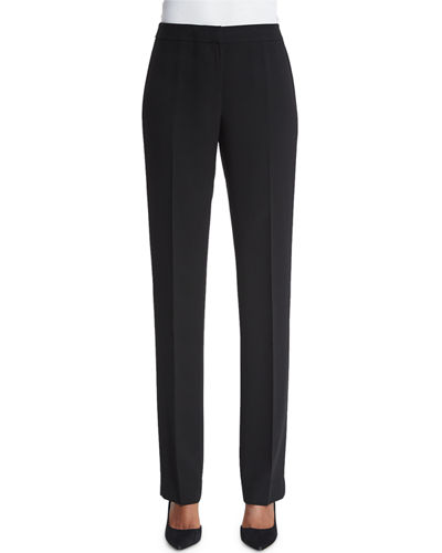 Barrow Straight-Leg Crepe Pants, Plus Size