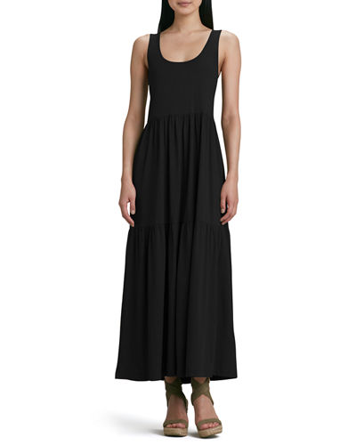 Plus Size Tiered Long Tank Dress