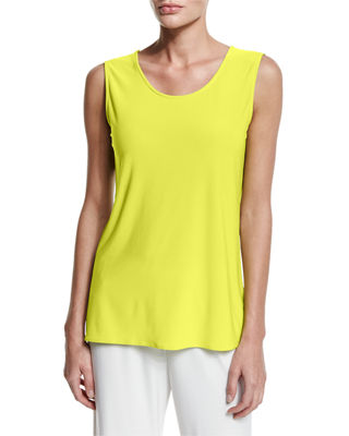 Caroline Rose Sleeveless Long Travel-Friendly Tank