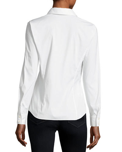 Stretch Cotton Katie Side-Zip Shirt