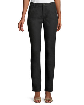Lafayette 148 New York Thompson Yarn-Dyed Denim Slim-Leg