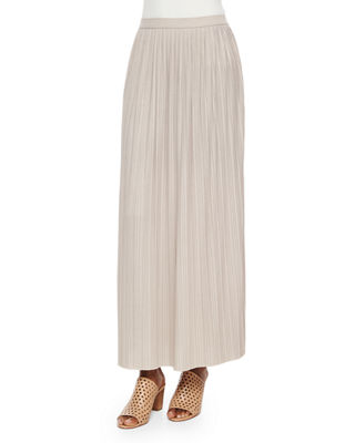 Joan Vass Long Pleated Skirt, Petite