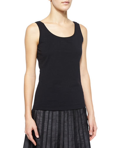 NIC+ZOE Petite Perfect Jersey Scoop-Neck Tank