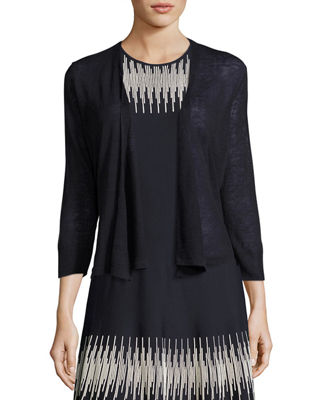 NIC+ZOE 4-Way Linen-Blend Knit Cardigan & Crosswalk Twirl