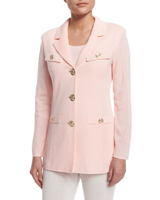 Misook Dressed Up Button-Front Jacket, Plus Size