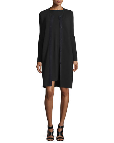 Eileen Fisher Long-Sleeve A-line Dress, Plus Size