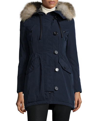Arriette Fur-Trim Puffer Coat
