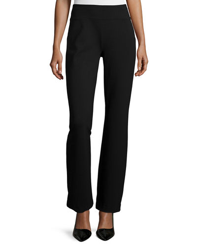 Ponte Boot-Leg Pants, Plus Size