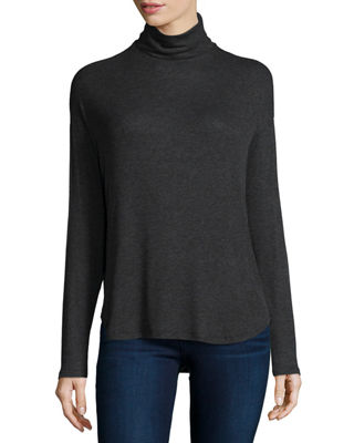 Majestic Paris for Neiman Marcus Long-Sleeve Ribbed Turtleneck