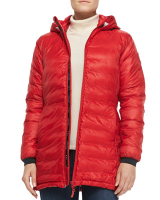 Image 1 of 4: Camp Hooded Mid-Length Puffer Coat