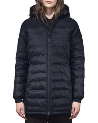 Camp Hooded Quilted Shell Down Jacket, Admiral Blue/Blac