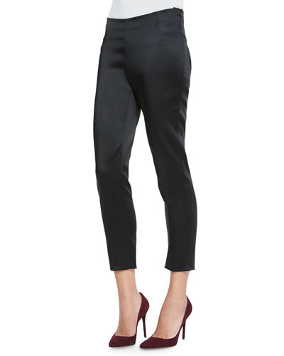 Lafayette 148 New York Belle Satin Stanton Pants