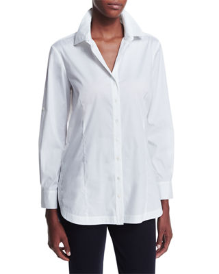 Long-Sleeve Button-Front Shirt