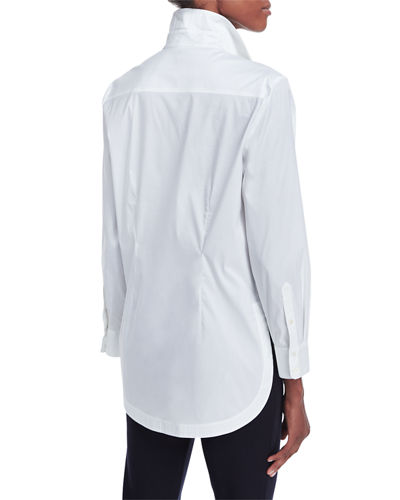 Long-Sleeve Button-Front Shirt, Plus Size