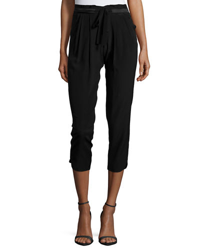 Allyn Drawstring-Waist Jogger Pants