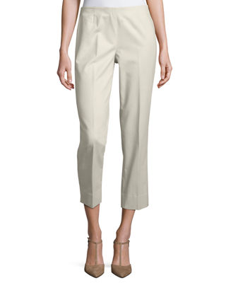 Metro Stretch Lexington Cropped Pants in Open White