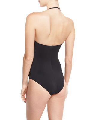 Image 2 of 2: Essentials Bandeau-Top One-Piece Swimsuit