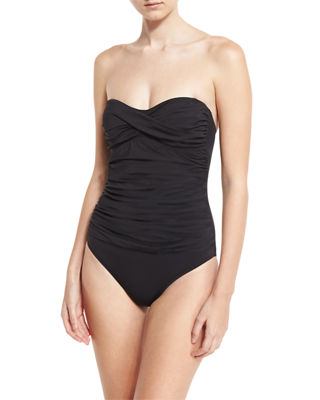Image 1 of 2: Essentials Bandeau-Top One-Piece Swimsuit