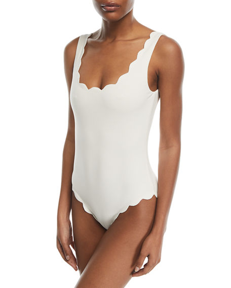 Image 1 of 2: Marysia Palm Springs Scalloped One-Piece Swimsuit
