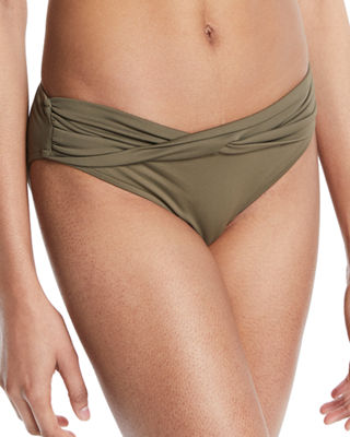 Twist-Band Hipster Swim Bottom