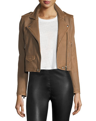 Iro Ashville Leather Moto Jacket & Isabeli Long-Sleeve