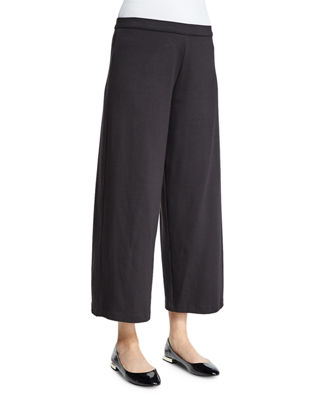 Joan Vass Easy Wide-Leg Ankle Pants, Petite