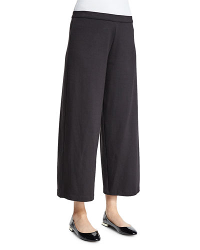 Easy Wide-Leg Ankle Pants, Petite