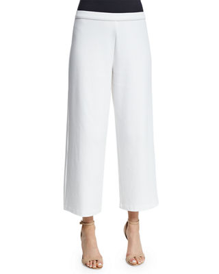 Easy Wide-Leg Ankle Pants