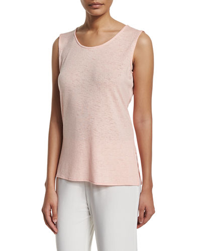 Caroline Rose Gauze Knit Cardigan, Knit Long Tank