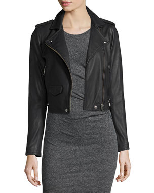 c50d45428ca Leather Jackets   Coats for Women at Neiman Marcus