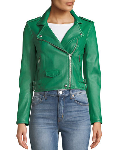 Iro Ashville Cropped Leather Jacket & Denis Netted