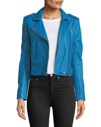 Iro Ashville Cropped Leather Jacket & Pier Stretch