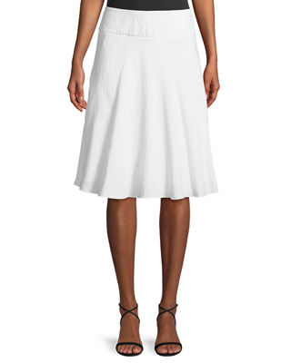 NIC+ZOE Summer Fling Linen-Blend Skirt