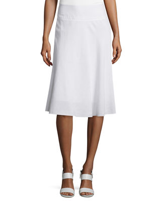 NIC+ZOE Summer Fling Linen-Blend Skirt, Plus Size