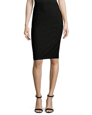 Armani Tied detail fitted skirt