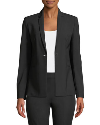 Image 1 of 4: Darcy One-Button Stretch-Wool Jacket
