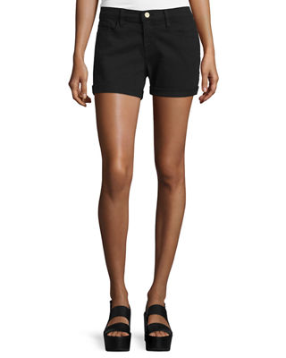 Black 'Le Cutoff' Denim Shorts, Noir