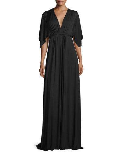 Long Jersey Caftan Dress