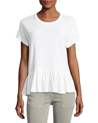 The Great The Ruffle Short-Sleeve Tee & The