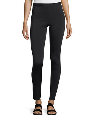 Image 1 of 2: Cropped Neoprene Stretch Leggings